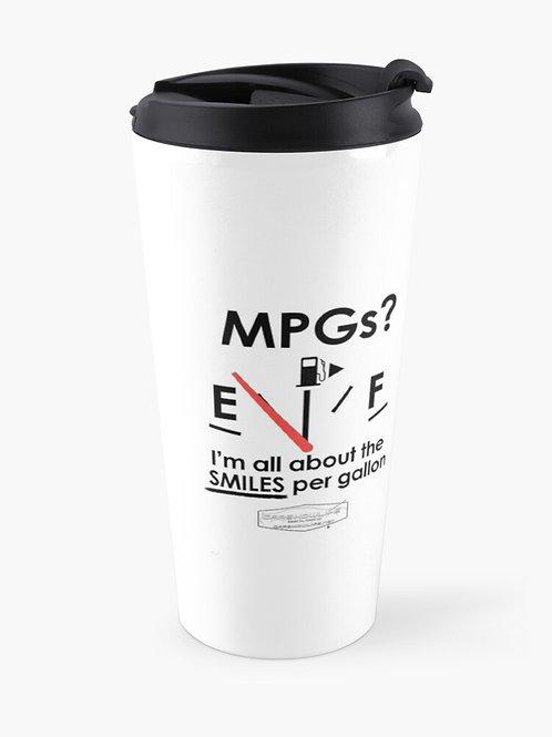 Smiles Per Gallon Travel Mug