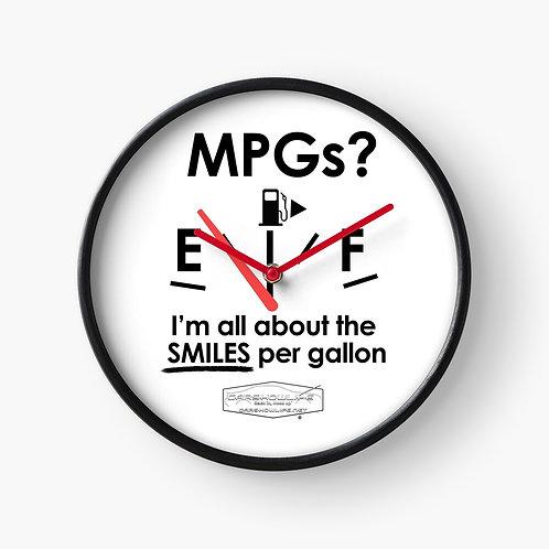 Smiles Per Gallon Clock