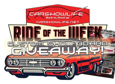 Win a custom designed #CarShowLife Show Board