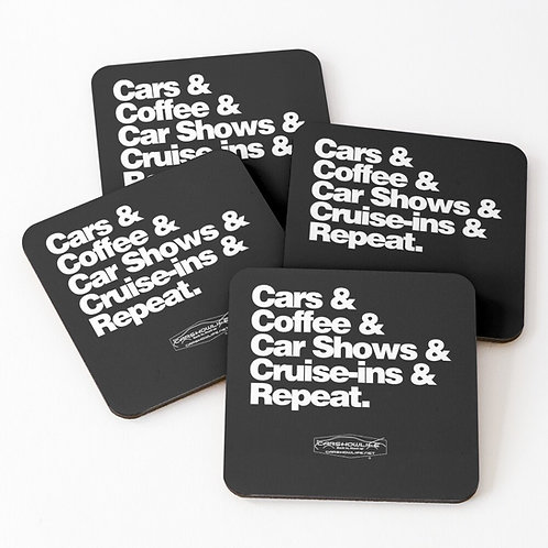 Helvetica Coasters (Set of 4)