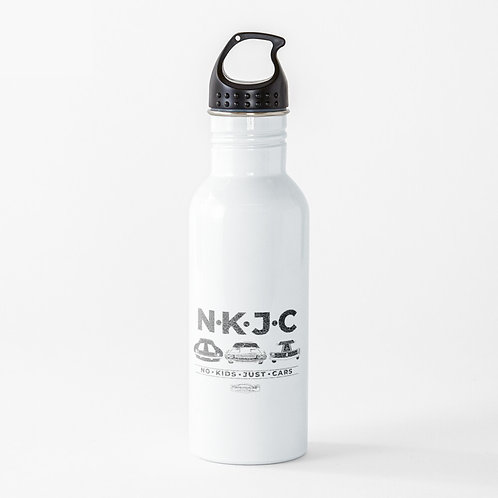 No Kids Just Cars Water Bottle