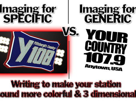WRITING FOR SPECIFICS VS GENERICS