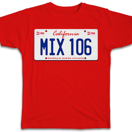 Mix 106 License Plate