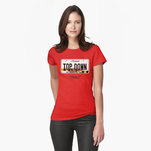 License Plate Ladies Fitted T-Shirt