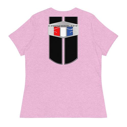Car Show Life Modern Muscle Racing Stripes Women's T-Shirt
