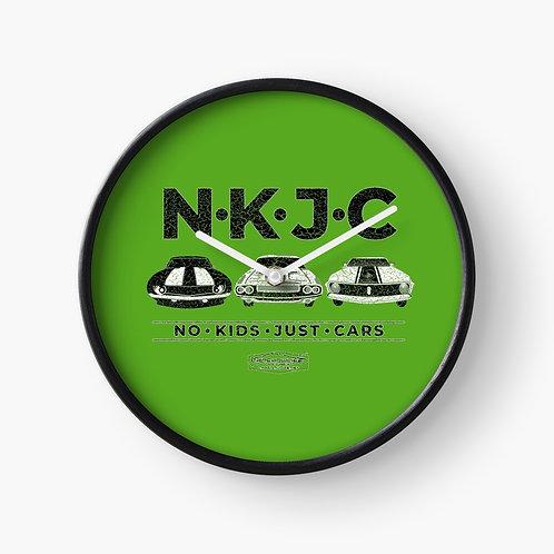 No Kids Just Cars Clock