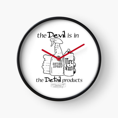 The Devil Is In The Detail Products Clock