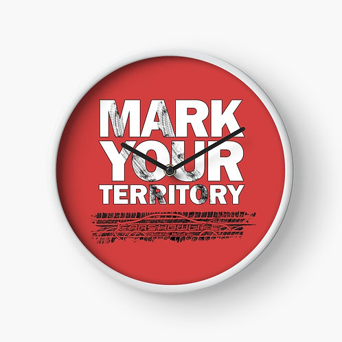 Mark Your Territory Clock