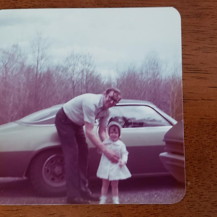 Pap-pap Tim & cousin Jen circa 1973