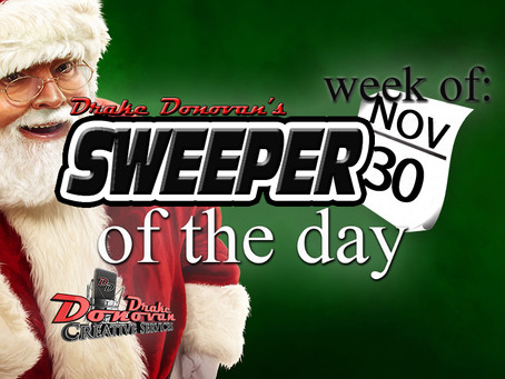 SWEEPER OF THE DAY COPY: WEEK OF 11/30/2020