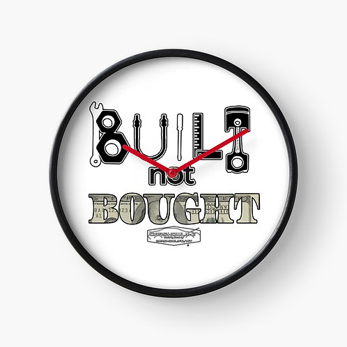 Built Not Bought Clock