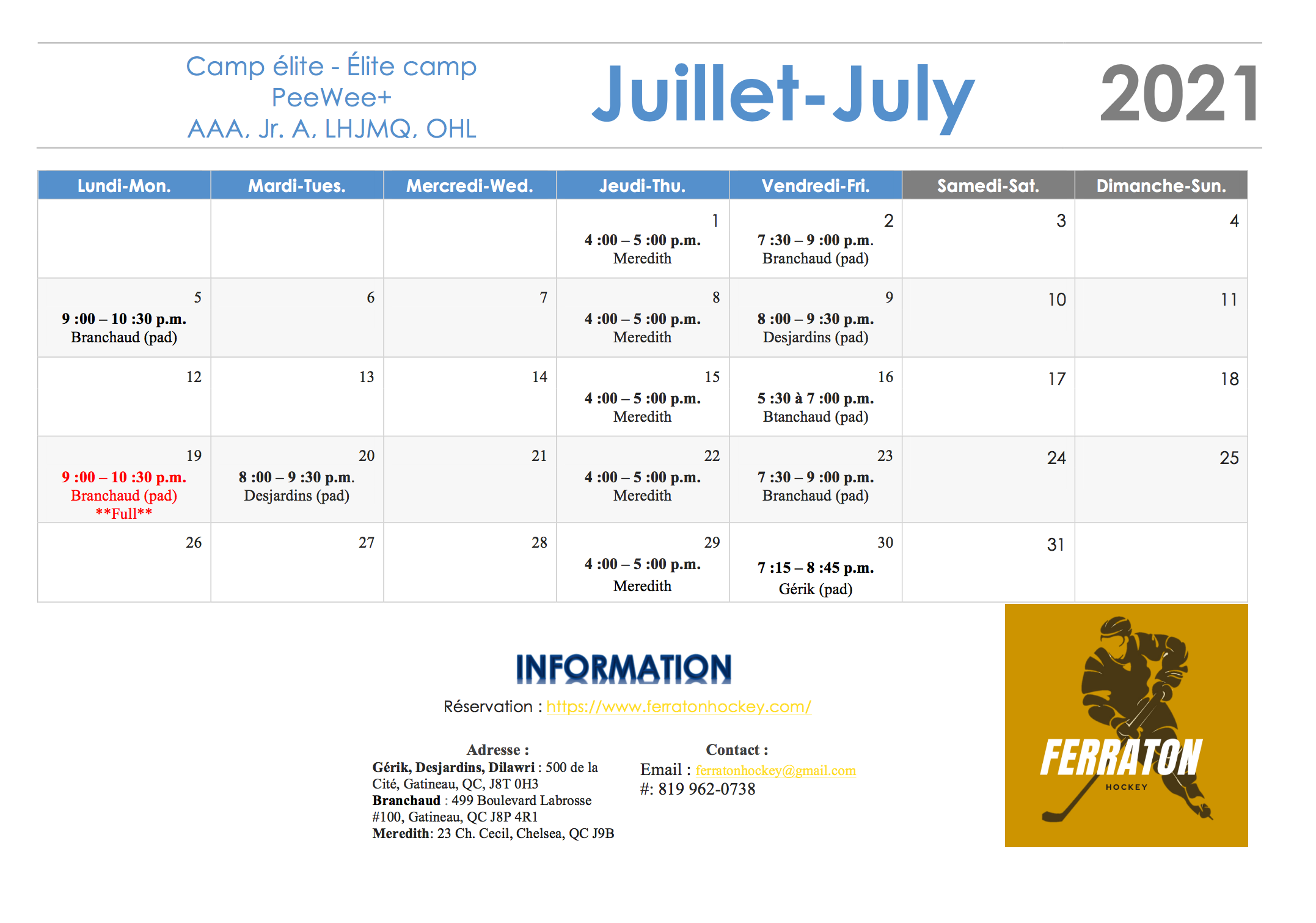 July sessions