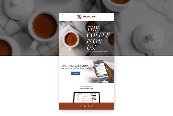 Servizo Cafe Email Design