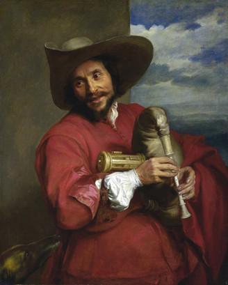 """""""Portrait de François Langlois à la musette"""", par Van Dick. 1637. National Gallery, Londres."""