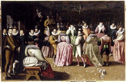 Bal à la Cour de Henri III. Peintre anonyme, vers 1583. Musée du Louvre.