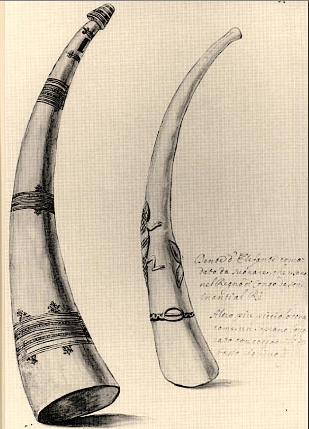 Flûte multiple, Codex Settala, vers 1650, Ref. Gamma.h.1.22, Biblioteca Estense Universitaria, Modena. Les Oliphants