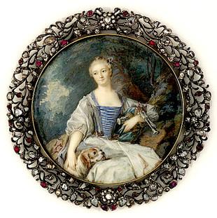 Madame de Pompadour en bergère,  musée du Louvre.