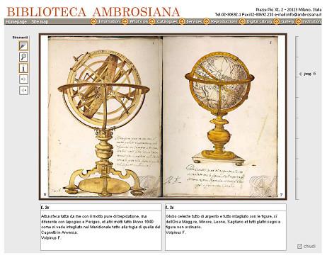 La sphère armillaire de Settala, présentée par la Biblioteca Ambrosiana.