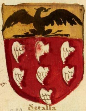 """Le blason des Settala, les """"sept ailes"""" de son nom."""
