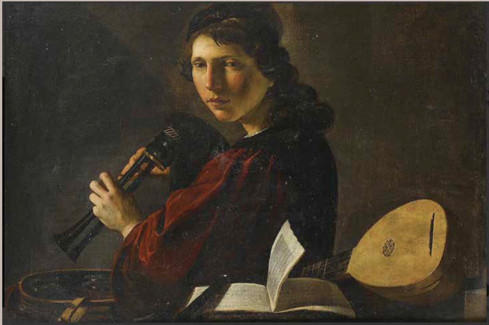 """""""Joueur de Sourdeline"""" par Pietro Paolini, vers 1640."""
