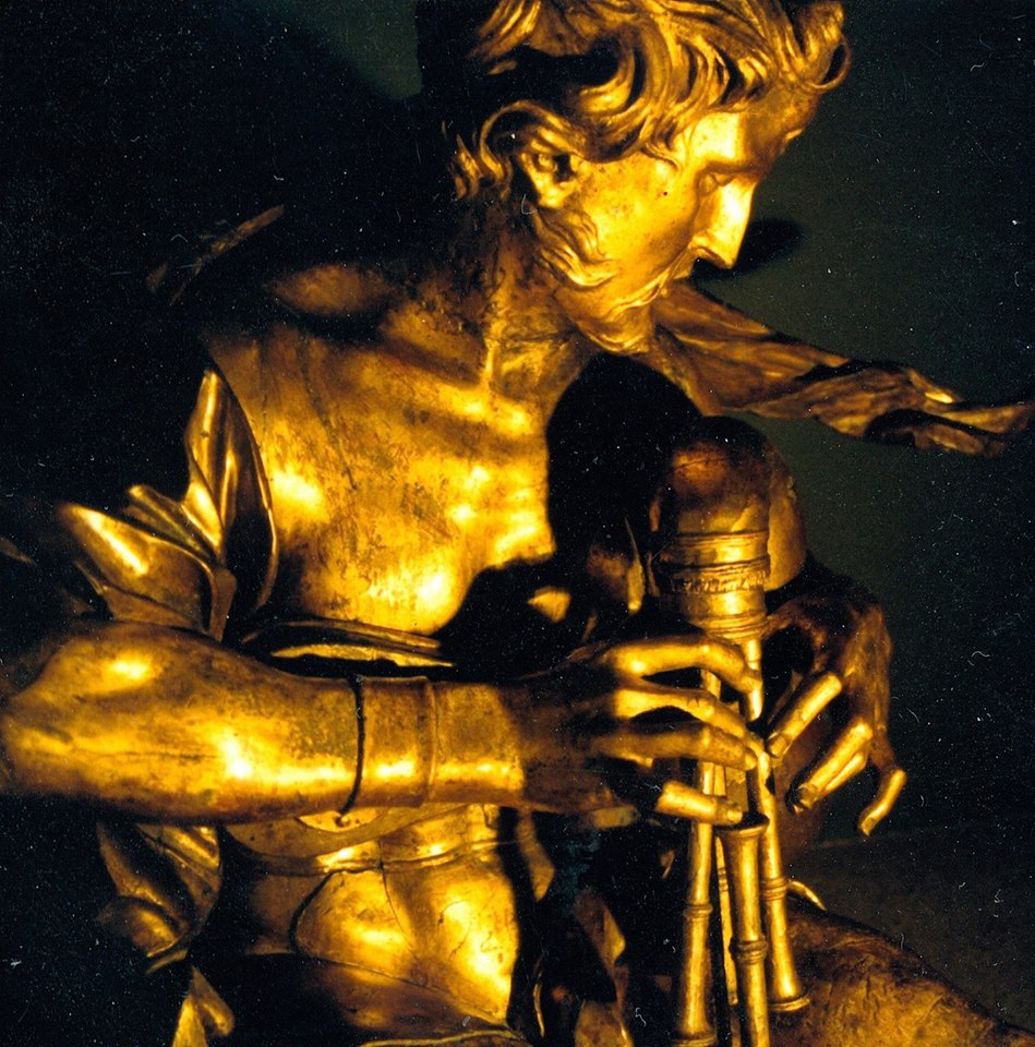 Polyphème, joueur de sourdeline de la Galleria Armonica de Todini, 1676. MET New York.