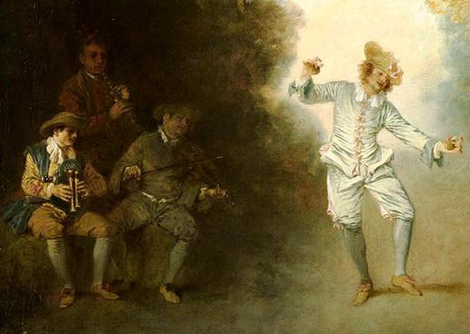 """""""Le Bal champêtre"""", Watteau, vers 1719. Col. Paticulière."""