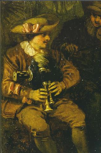 """""""L'amour au Théâtre Français"""", détail, Watteau, vers 1719. BKP, Berlin."""