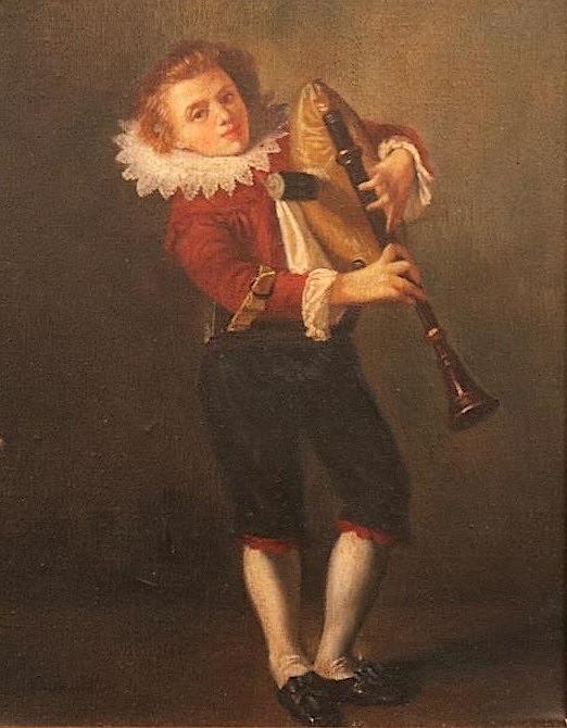 Joueur de musette, anonyme, 17° siècle (?)