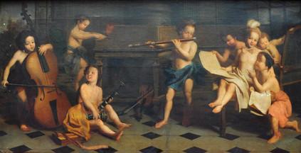 Allégorie de la musique Lyon, anonyme 18e si§cle, étude Bremens-Belleville, vente Bremens-Belleville, 2018.