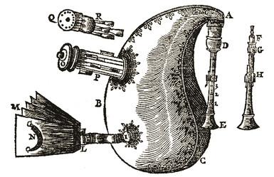 """""""Musette"""" dans l'Harmonie Universelle de Marin Mersenne, 1636."""