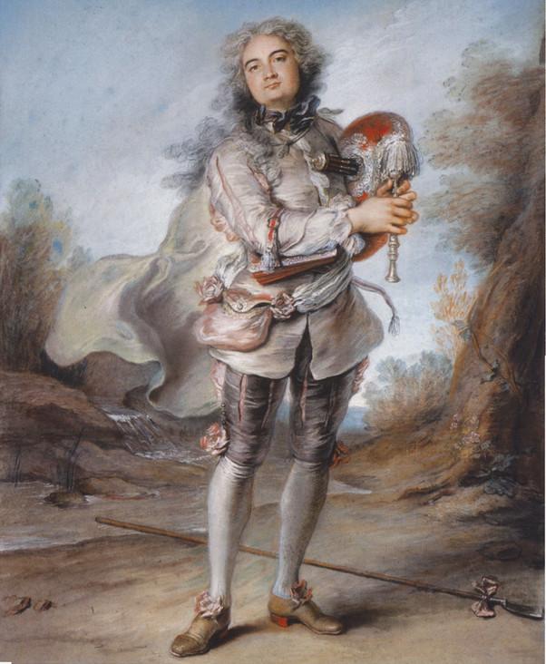 """Gaspard de Gueidan en Daphnis"", par Charles-Antoine Coypel, vers 1738. The Horvitz Collection, Boston."