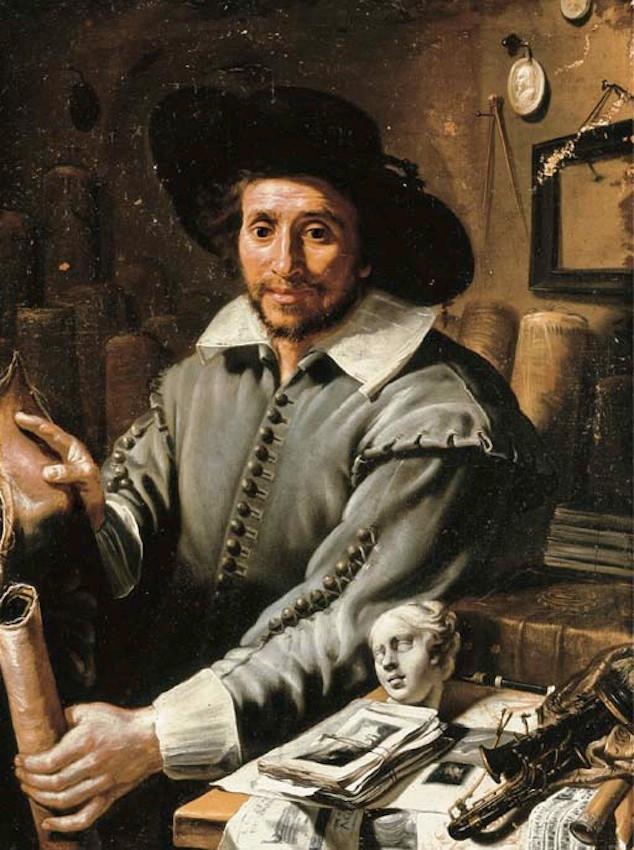 """""""Portrait de François Langlois en marchand d'art"""", ca 1630. Fondation Custodia, Paris."""