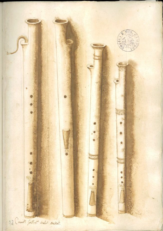 Jeu de Bassons, Codex Settala, vers 1650, Ref. Gamma.h.1.22, Biblioteca Estense Universitaria, Modena.