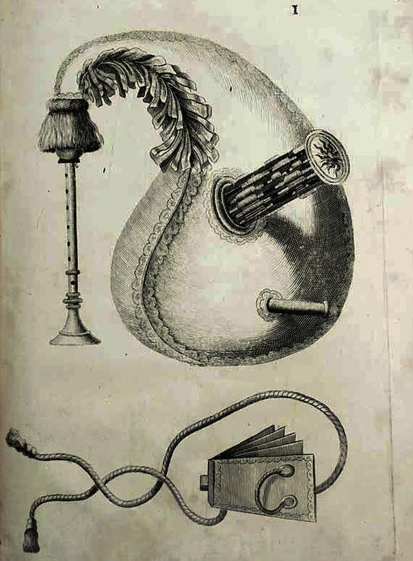 """""""Musette"""", dans le Traîté de la Mustte de Charles-Emmanuel Borjon de Scellery, 1672."""