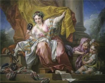 """""""Allégorie du Théâtre"""", par Carl Van Loo, 1752. Musée Pushkin, Moscou."""