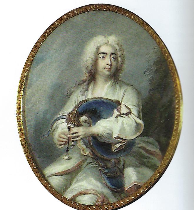 """""""Le duc d'Orléans, Régent, jouant de la musette"""", par Jean-Baptiste Massé, vers 1718 ? Chantilly, musée Condé."""