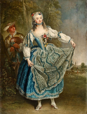 """""""La Barberina"""" par Antoine Pesne, vers 1745."""