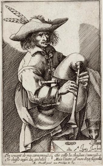 """""""Le joueur de Musette"""", par Jean de Saint-Igny, vers 1630. BNF."""