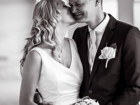 Bryllupsfoto på Frederiksberg Slot i københavn