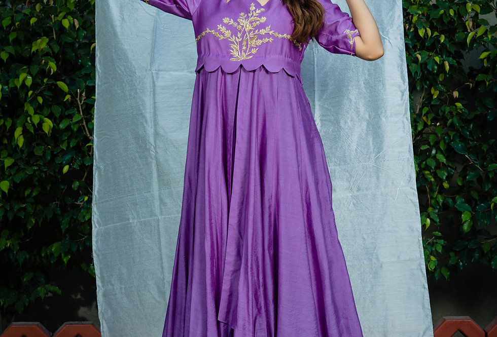 LAVENDER LAYERED GOWN