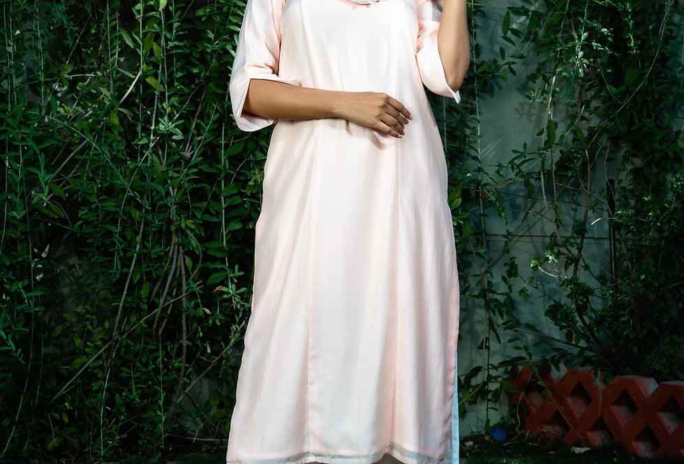 BLUSH CRUSH COLLAR KURTA