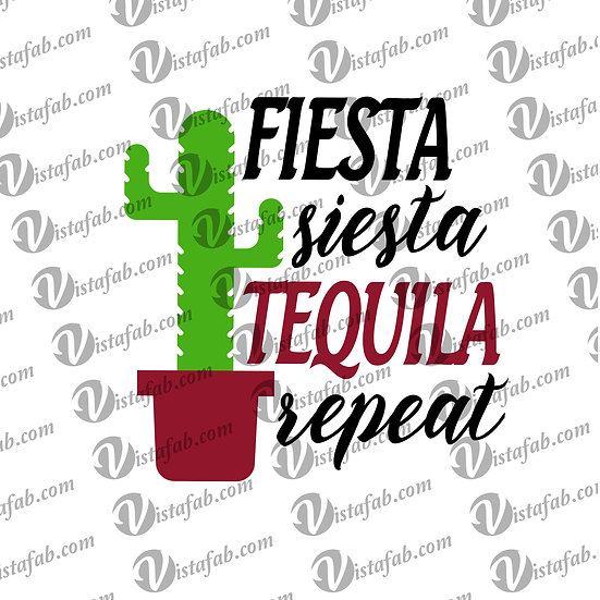 Fiesta Siesta Tequila - INSTANT DOWNLOAD