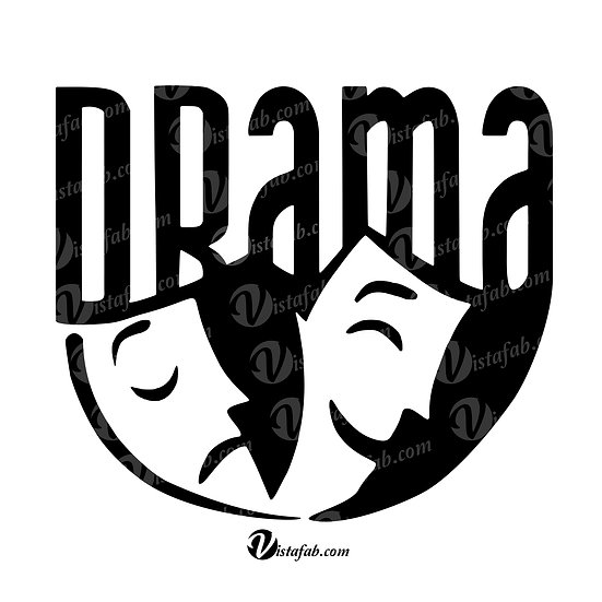 Drama Masks - INSTANT DOWNLOAD