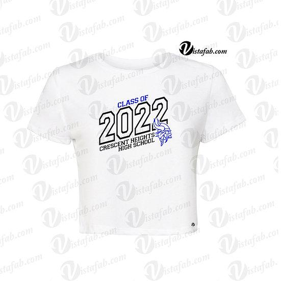 Ladies Crop Tshirt - CHHS Grad 2022