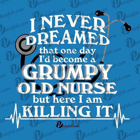 Grumpy Nurse - INSTANT DOWNLOAD