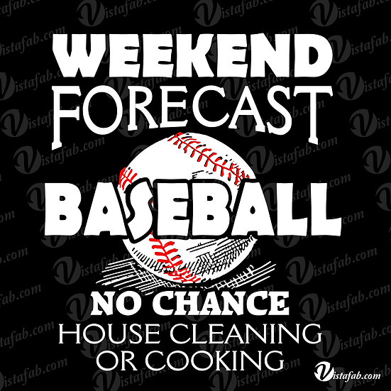 Weekend Forecast for Baseball - INSTANT DOWNLOAD
