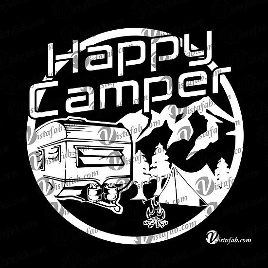 Happy Camper - INSTANT DOWNLOAD