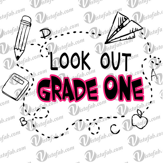 Look out School  - INSTANT DOWNLOAD