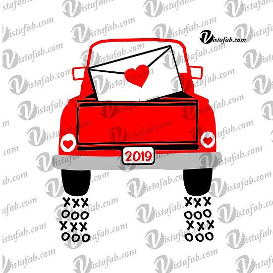 Valentine Truck - INSTANT DOWNLOAD