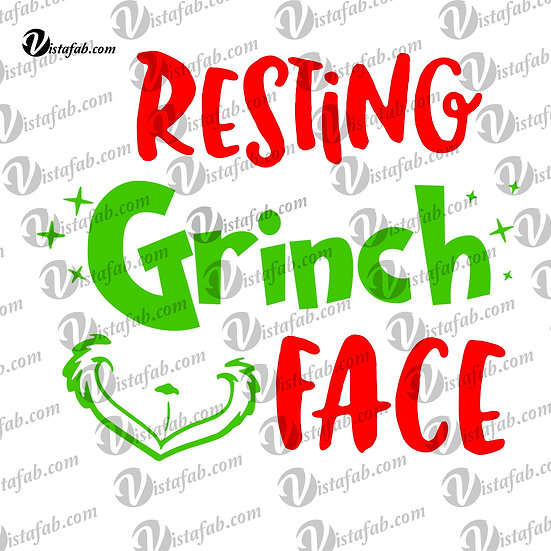 Resting Grinch Face - INSTANT DOWNLOAD